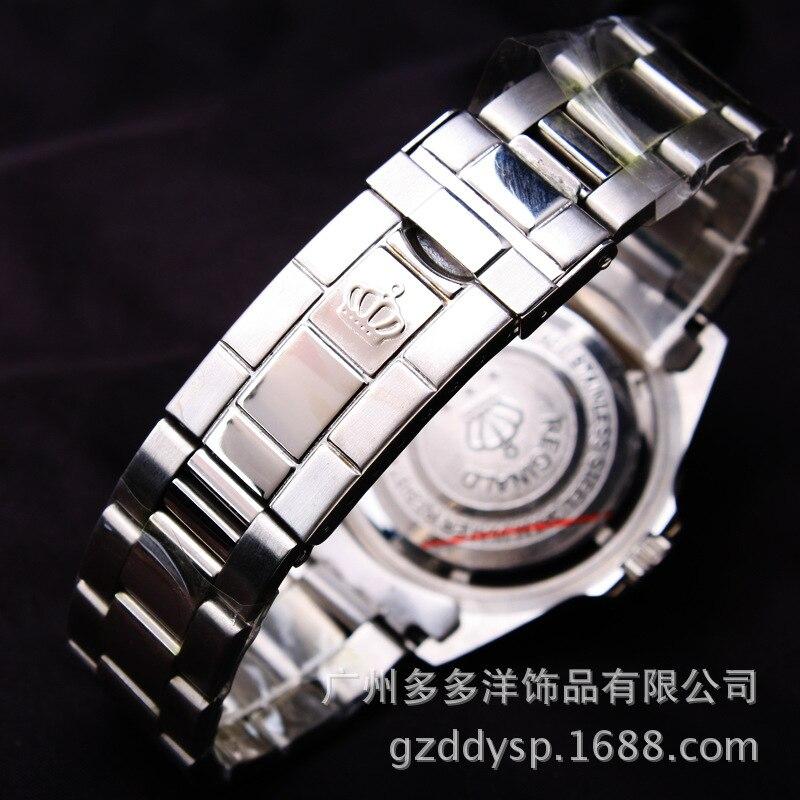 2016 Lyx Märke Armbandsur Hk Crown Mode Män Roterbar Mantel GMT - Herrklockor - Foto 5