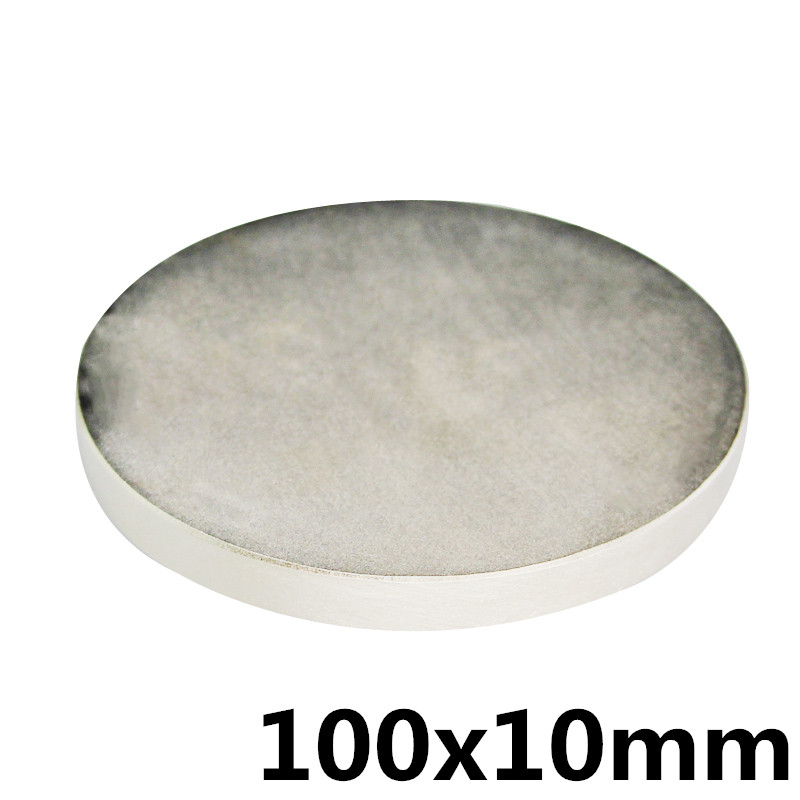 1 pc 100x10mm N35 Puissant Super Forte Aimant Rond Rare Earth Permanent Neo Néodyme Magnet100mmX10