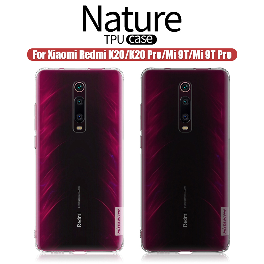 For Xiaomi Redmi K20 Pro Case Redmi K20 Nillkin Nature Transparent Clear Soft Silicon TPU Cover For Xiaomi Mi 9T Case Mi 9T Pro