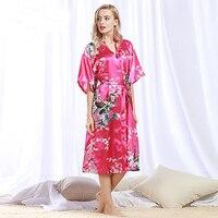 High Quality Brand Wedding Bride Bridesmaid Robe Satin Silk Bathrobe Nightgown for Women Kimono Sleepwear Plus Size S 3XL