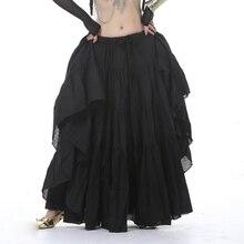 12 Colors Gypsy Dance Performance Women Full Circle Linen Skirt Belly Tribal Skirts