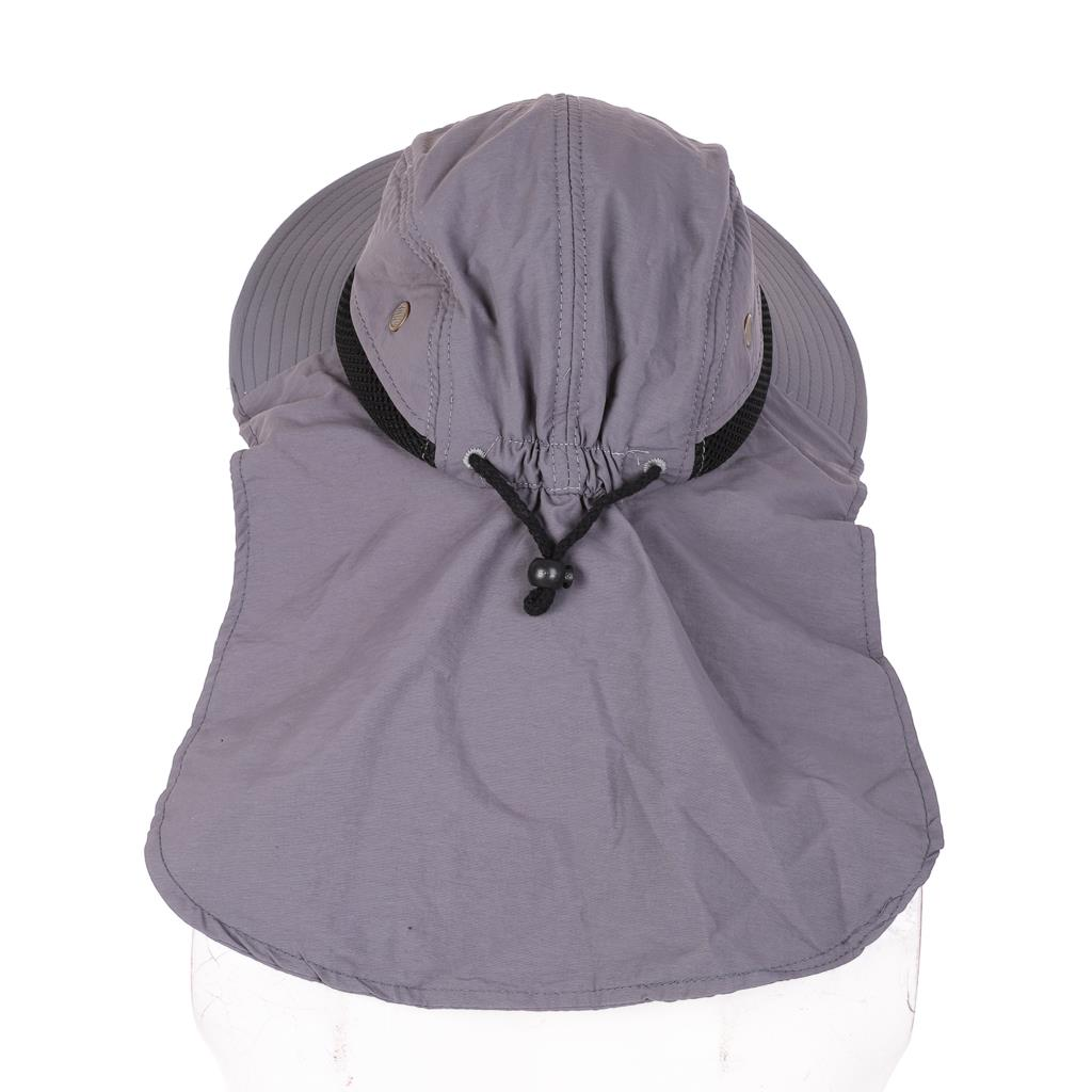 Hot Outdoor Fishing Hiking Boonie Snap Hat Brim Ear Neck Cover Sun Flap Cap