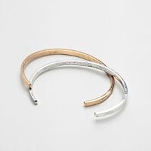 64mm Summer Hammered Thin Metal Antique Gold Open Cuff Adjustable Bangle Bracelets Korean Fashion Minimalism Party Boho Jewelry