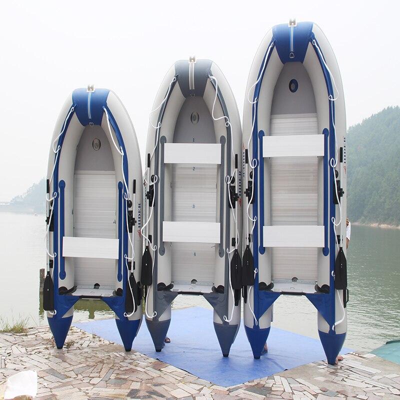 6 personnelle CE gonflable de pêche 330/400420/450/520/560 cm bateau plancher En Aluminium 0.9mm PVC bateau
