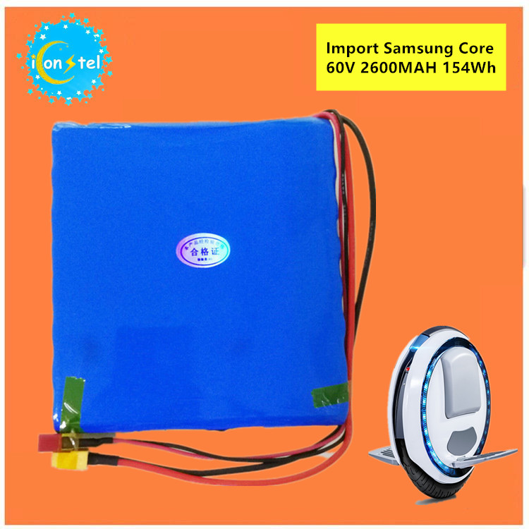 ICL Manufacture for Samsung 18650 60V 2600mAH 154Wh Balance car Battery pack Self carlectric unicycle 2