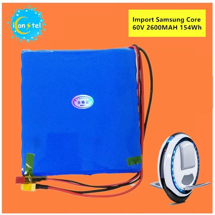 ICL fabrication pour Samsung 18650 60 V 2600 mAH 154Wh Balance batterie de voiture auto carlectric monocycle 2.6AH batterie de puissance