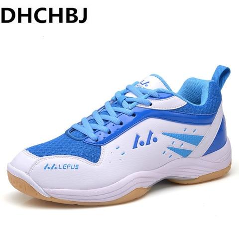 Sapatas do Esporte dos Homens de Tênis Badminton dos Homens à Prova de Choque Mulheres Athletic Shoes Tamanho Grande Homens Badminton Tênis Anti-escorregadio Sneaker