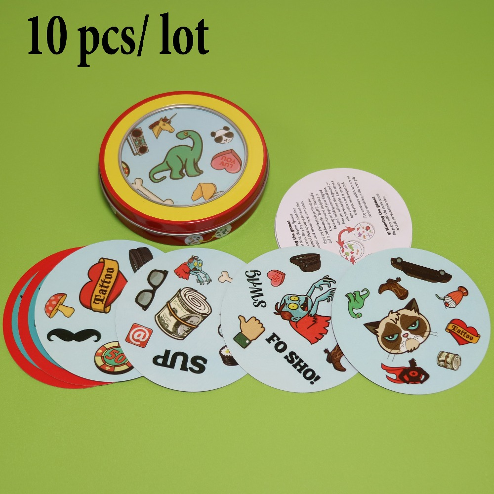 10 pcs lot match hip for wholesale high quality paper for family fun cards game board