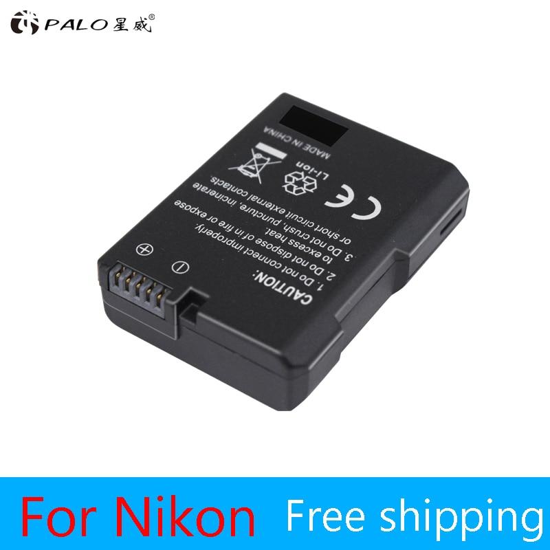 ¡1pc! EN-EL14 EN-EL14a ENEL14 EL14 1200 mAh batería para Nikon D5600... P7700... P7100... D3400... D5500... ¿D5300... D5200... D3200... D3300... D5100... D3100 Df?
