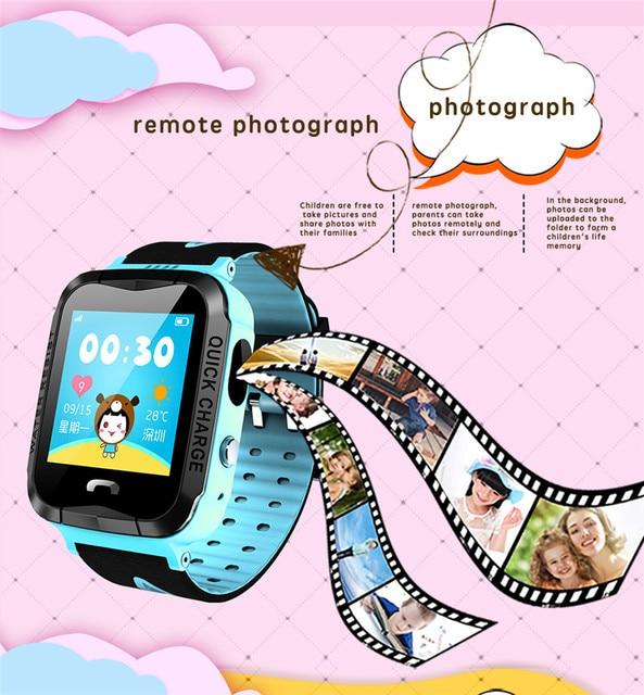 Фото детские смарт часы с gps водонепроницаемые фонариком сенсорным