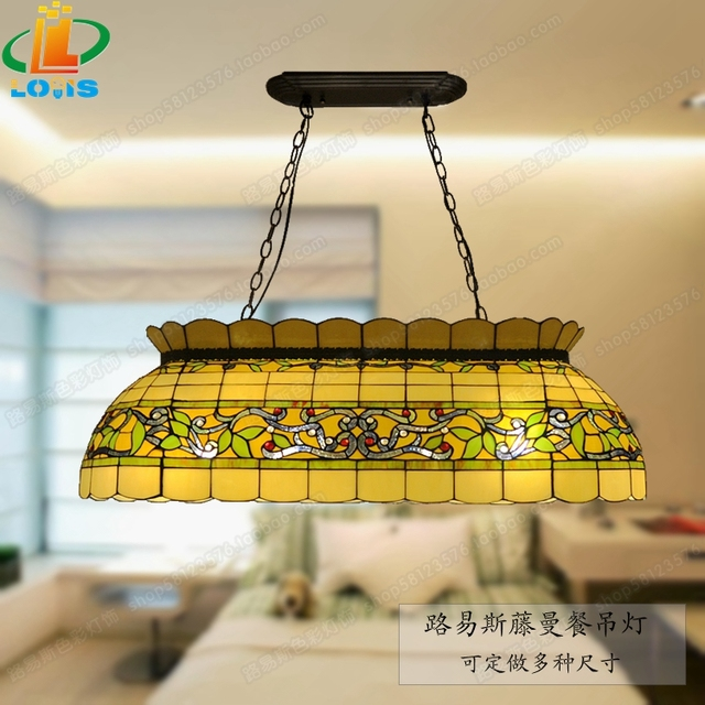European style retro glass rattan man large chandelier tiffany european style retro glass rattan man large chandelier tiffany restaurant billiards table snooker lights american aloadofball Image collections