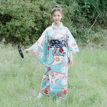 Kimono japonés tradicional cosplay vestido de mujer yukata mujeres haori  Japón geisha traje obi Japón asia vestido Q651 16760ded0662