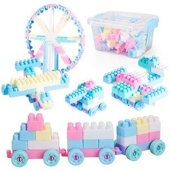 Caixa de Armazenamento de Brinquedos Luta Inserido Blocos de Grandes Partículas de montagem Montagem de Peças de Blocos de Construção DIY Brinquedos para Crianças