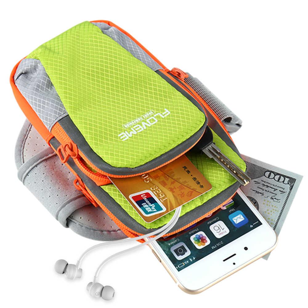 """FLOVEME 6 """"بوصة الرياضة الذراع الفرقة حقيبة لهاتف أي فون XS X 8 7 زائد 8 الفاخرة في الهواء الطلق تشغيل اليد حقيبة حالة ل شياو mi mi x 2 S mi 9 mi 8"""