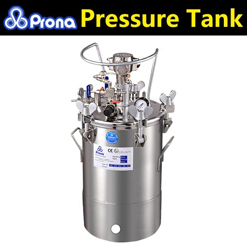 Prona automatikus keverőmű festéknyomásos tartály RT-10AS, RT-20AS, RT-40AS, rozsdamentes acél anyag, 10L 20L 40L kapacitású nyomástartó edény