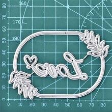 YaMinSanNiO 89*63mm Floral Leaves Metal Cutting Dies Scrapbooking for Card Making DIY Embossing Cuts New Craft Circle Die