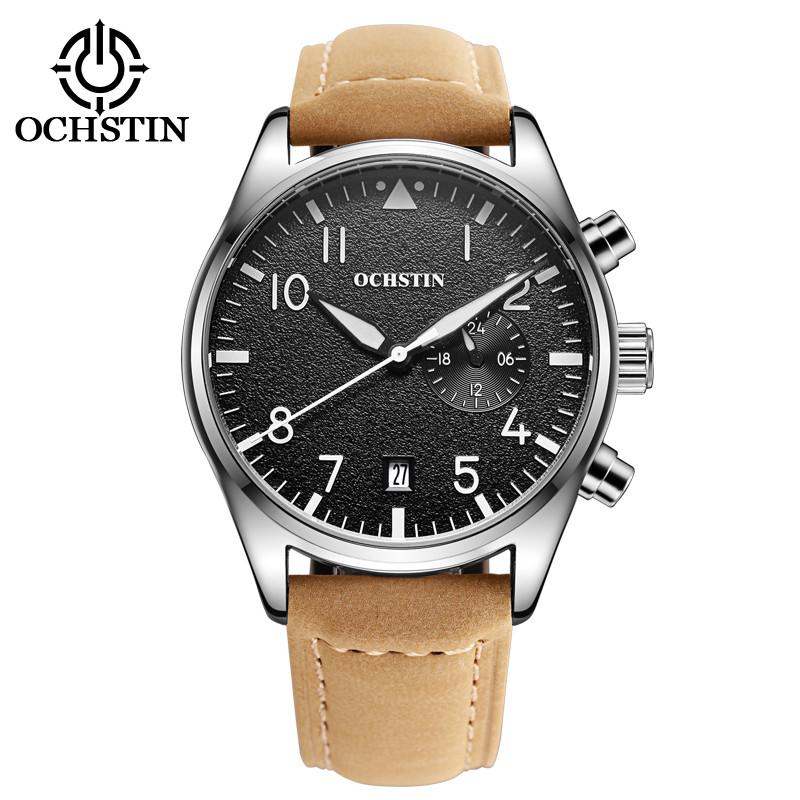 OCHSTIN Men's Top Brand Luxury Quartz Watches Men's Sports Quartz-Watch Leather Strap Military Male Clock Fashion NEW Sale 2017 new listing men watch luxury brand watches quartz clock fashion leather belts watch cheap sports wristwatch relogio male gift