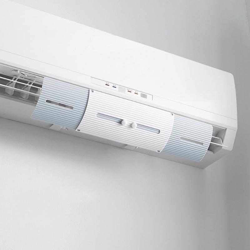 Ar Condicionado Tampa Do Condicionador de Ar Brisa Defletor Defletor Ajustável Guia Mês Reta Anti-vento Escudo Escudo Do Vento
