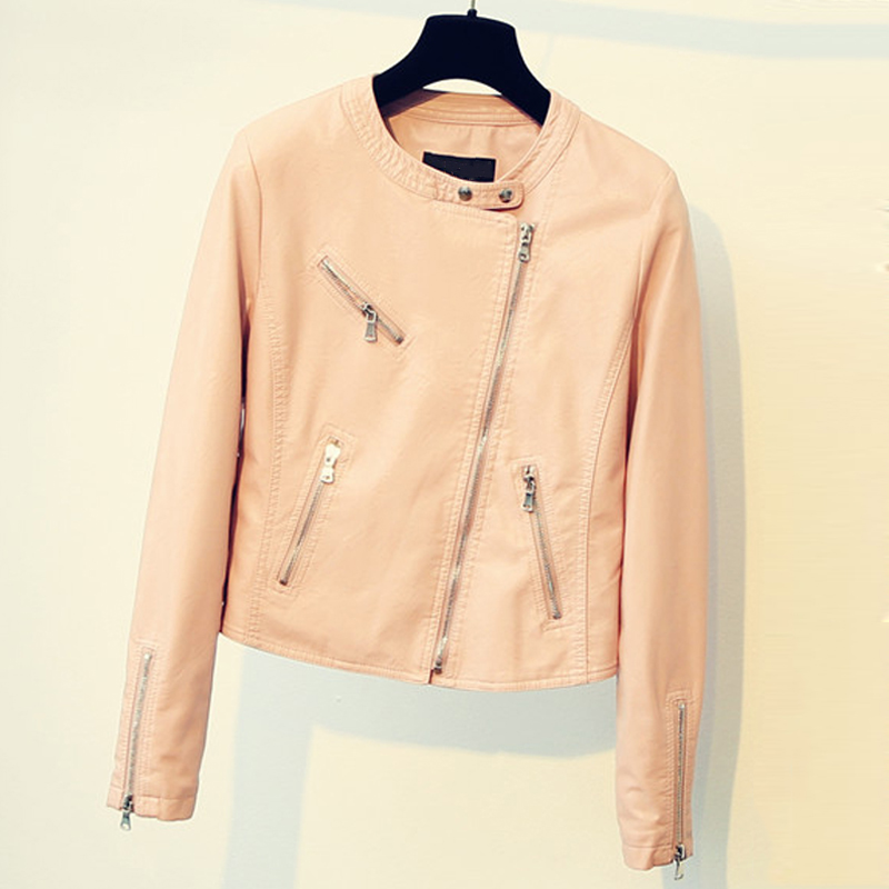 Air Women Leather Jackets and Coats Ladys Motorcycle Leather Jackets Overcoats Female Short PU Jackets Coats Streetwear C1716