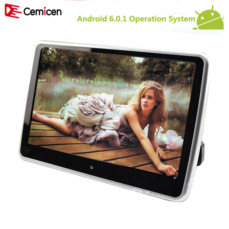 Cemicen 10 1 inch Android 6 0 1 System with WIFI Touch Screen Car Headrest monitor