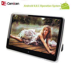 Cemicen 10.1 inch Android 6.0.1 System with WIFI Touch Screen Car Headrest monitor MP5 Player support USB/SD/Bluetooth/Speaker