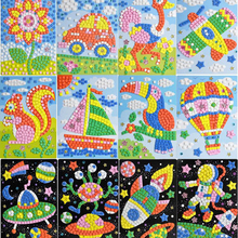 5 шт./компл. 3D EVA пены Стикеры игрушки головоломки DIY игрушки ручной работы с рисунками зверей из мультфильмов, образовательные Развивающие игрушки для Для детей Подарки