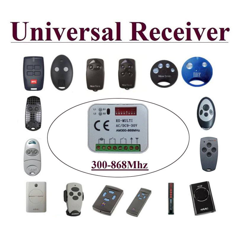10pcs/ lot 300-868MHz Universal auto scan  receiver suits  BFT CAME FAAC Nice  remote /transmitter