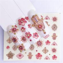 1 pçs frutas natal adesivos de unhas flores pplants água decalque gato padrão 3d manicure adesivo decoração da arte do prego m2r05
