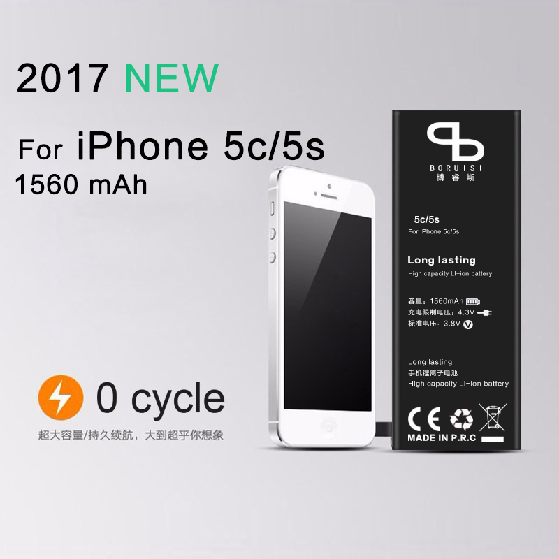 New zero cycle lithium ion 1560mAh mobile phone battery 5C replacement internal battery suitable for iPhone5s battery built-in ...