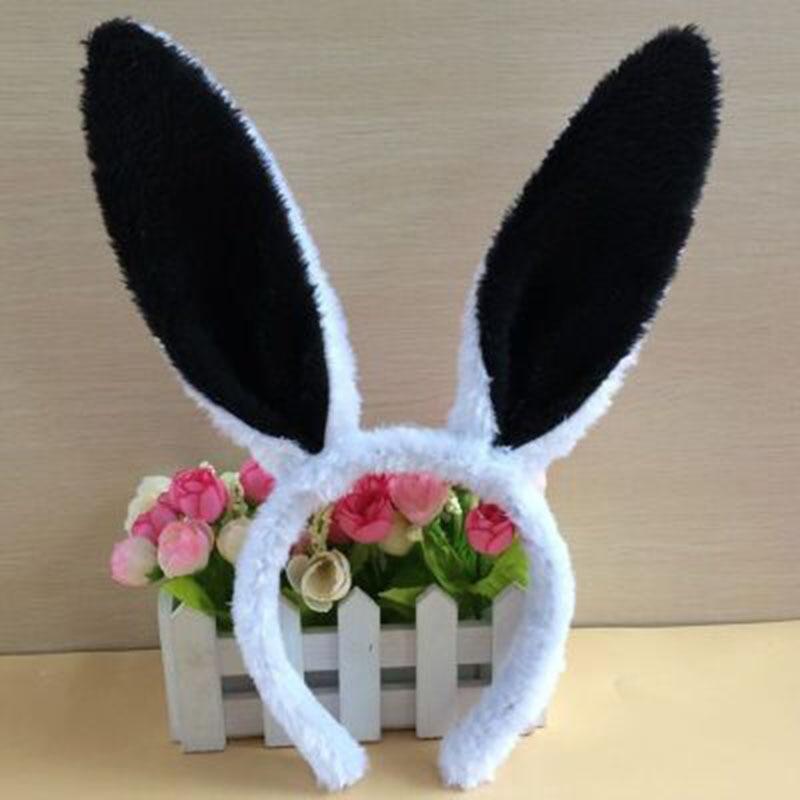 Cute Lovely Plush Long Rabbit Ears Hair Band Women Girl Bunny Headband   Headwear   Ear Decorations Hair Accessories for Cosplay SL