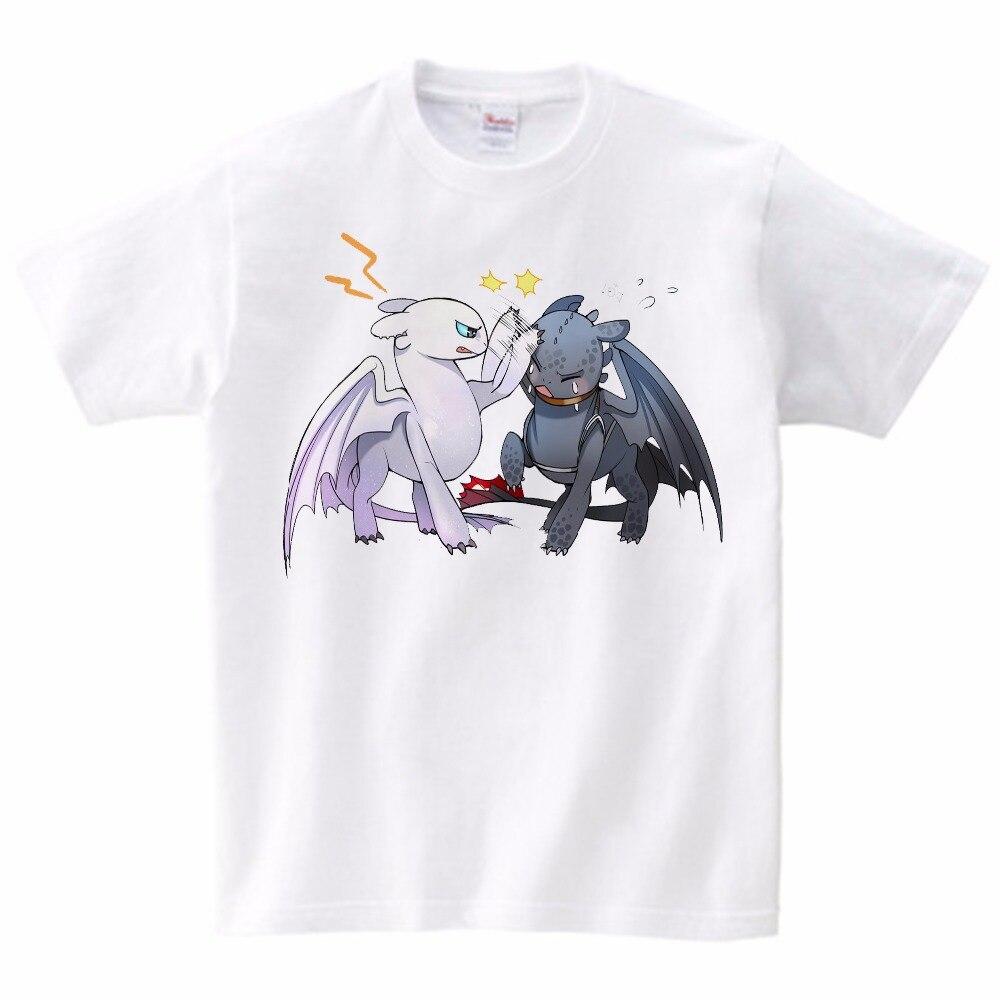 2019 O Mundo Oculto do T-shirt Crianças Bonitos Tops Como Treinar O Seu Dragão Filme de Fantasia Dos Desenhos Animados Tees TShirt Verão Roupas YUDIE