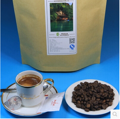 Free shipping 454g High-quality Coffee Beans Baking charcoal roasted Original green food slimming coffee lose weight tea