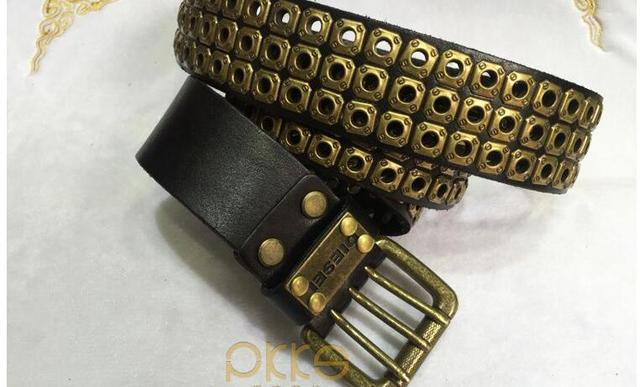 Free Shipping,Top new natural 100% cow leather buckle belt.brand genuine leather fashion vintage rivet belts