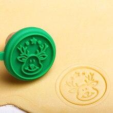 Рождество 1 комплект Силиконовые DIY печенья штамп помадка плесень печенье формочки для тиснения инструмент для поделок из сахара XH8Z OC18