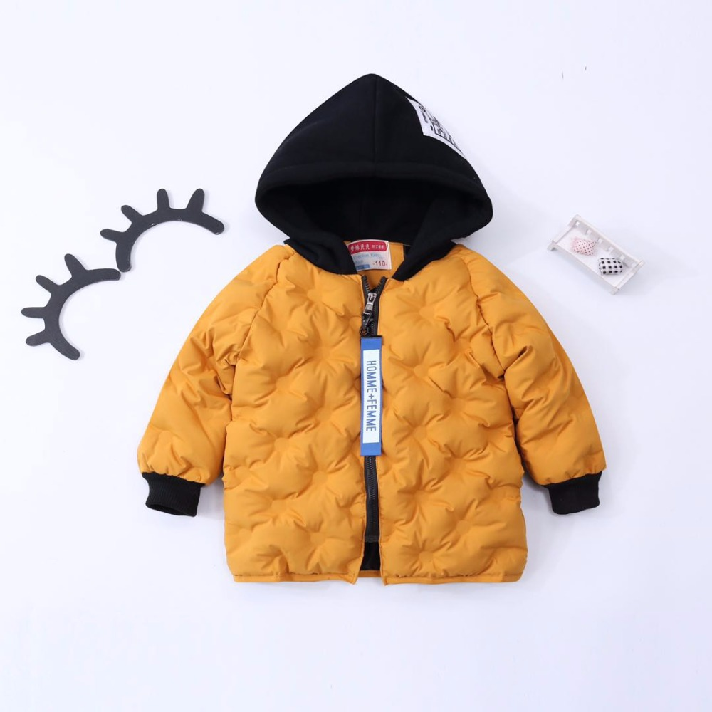 2017 fashion children clothing Kids Hooded Coat Thicken cotton-padded jacket Solid Cotton-padded boys&Girls warm coats for Y1-12 boys fleece jackets solid coat kid clothes winter coats 2017 fashion children clothing