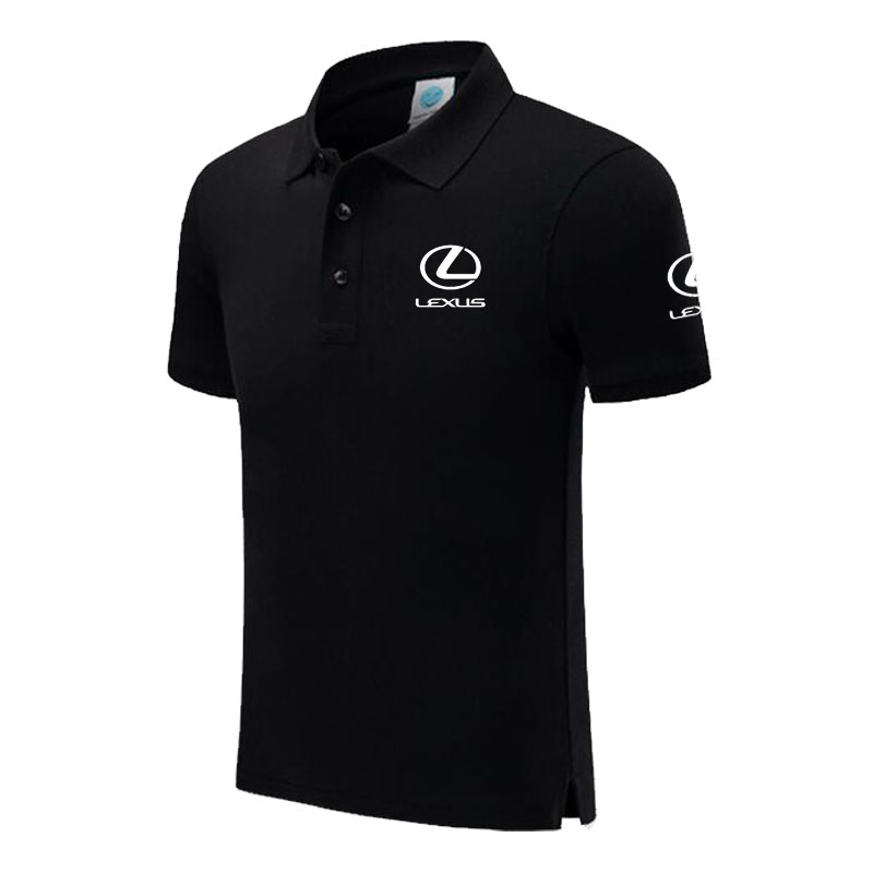 New Brand Lexus logo   polo   shirt Men Short Sleeve Mens Cotton   Polo   Homens printed Casual   polo   shirt