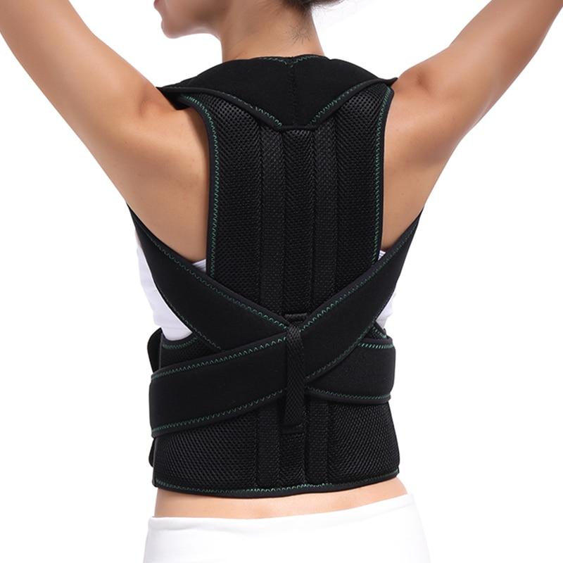 купить Back Posture Corrector Shoulder Lumbar Brace Spine Support Belt Adjustable Adult Corset Posture Correction Belt Body Health Care онлайн