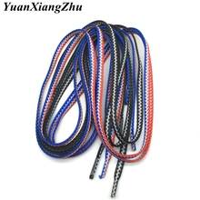 A Pair High Quality Stitching Colorful Woven Lace Shoes Casual Laces Sneaker ShoeLaces Colors Checkered 120CM Men Women shoelace