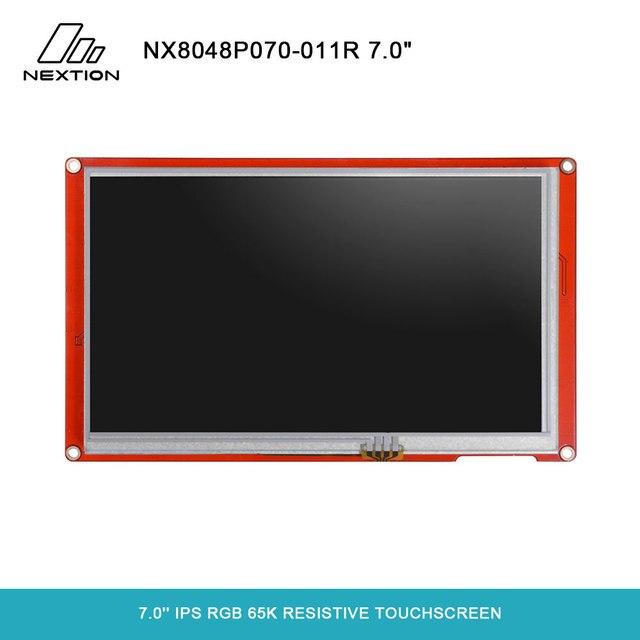 NEXTION 7.0 Nextion אינטליגנטי סדרת NX8048P070 011R HMI IPS RGB 65K Resistive מסך מגע תצוגת מודול ללא מארז