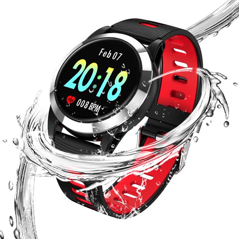 Montre intelligente hommes femmes étanche pression artérielle montres intelligentes podomètre numérique Bracelet Fitness Tracker pour IOS Android - 6