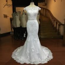Fmogl Vestido De Noiva Mermaid Wedding Dresses Cap Sleeve