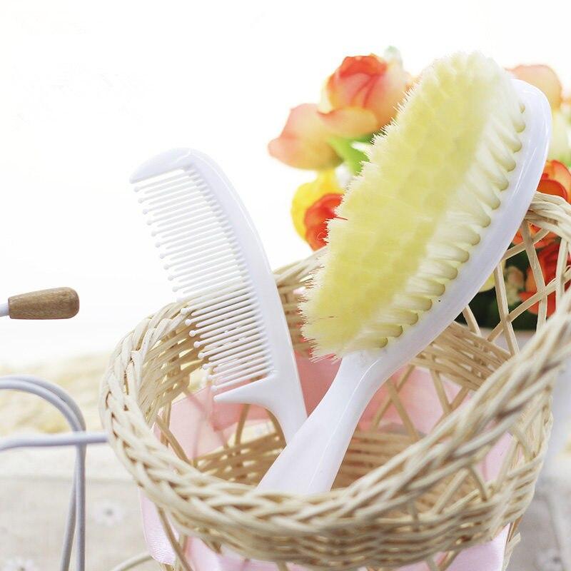 2pcs Baby comb & baby brush set hair brush remove dandruff crust