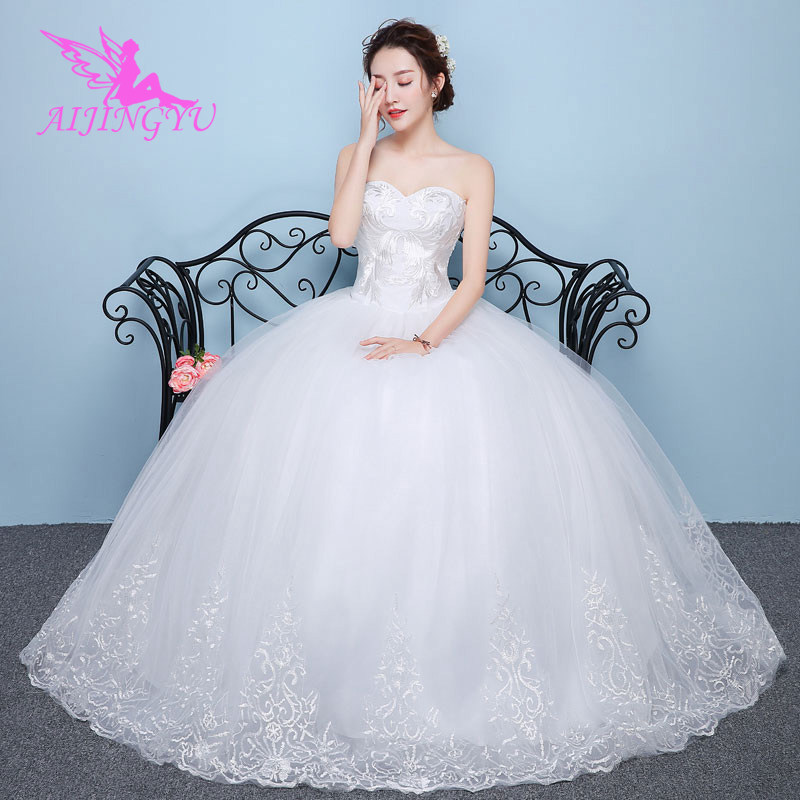 AIJINGYU 2018 beauty free shipping hot selling cheap ball gown lace up back formal bride dresses wedding dress WU188