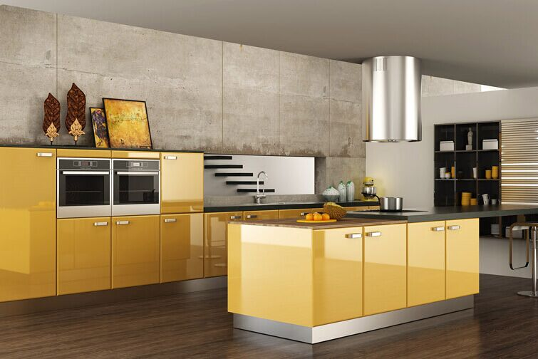 US $2400.0 |Acrylic modern kitchen cabinet-in Kitchen Cabinets from Home  Improvement on AliExpress