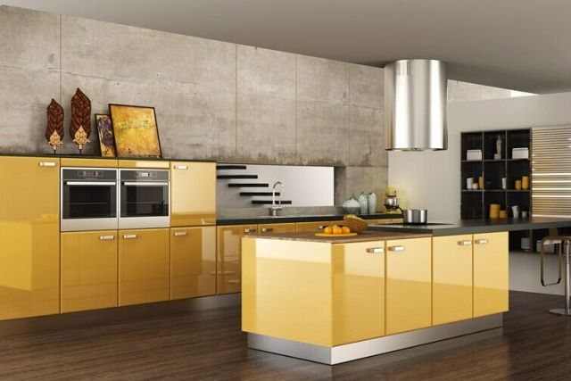 US $2400.0 |Acrylic modern kitchen cabinet-in Kitchen Cabinets from Home  Improvement on Aliexpress.com | Alibaba Group