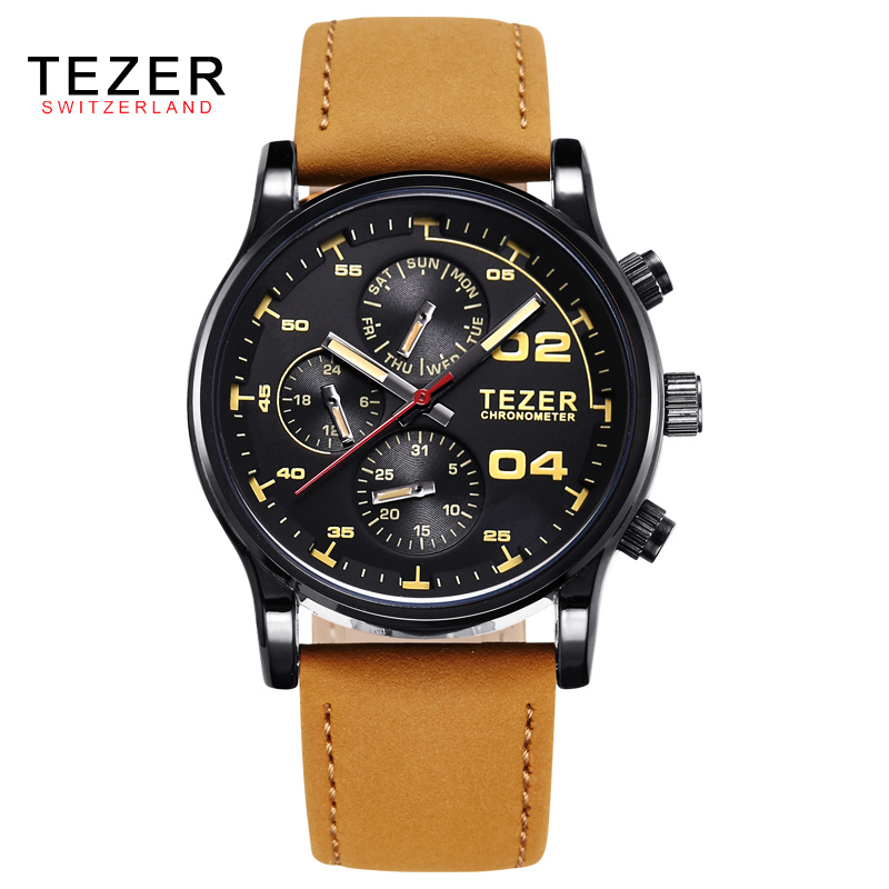 ФОТО 2016 New Brand Fashion Men Sports Watches Men'S Quartz Hour Date Clock Leather Strap Military Army Waterproof Wrist Watch AB1734