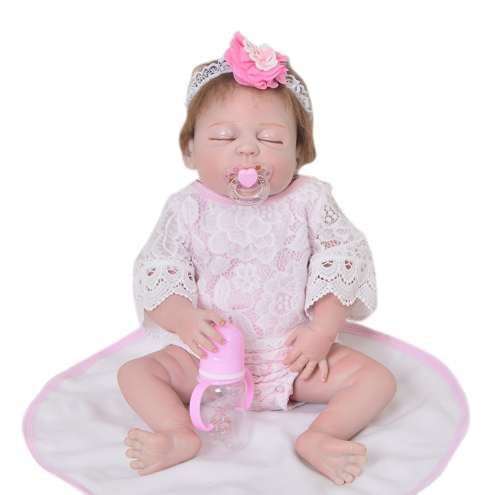 Newborn Doll 23 Inch Doll Reborn Babies Girl Full Body Silicone 57 cm Lifelike Baby Doll Toy For Kid Xmas Gifts Birthday Present 55cm silicone reborn baby doll toy lifelike npkcollection baby reborn doll newborn boys babies doll high end gift for girl kid