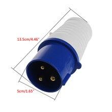32 Amp 3 Контактный Разъем 220-250 Вольт 2 P + E IP44 32A Непогоды Генератор Сверхмощный