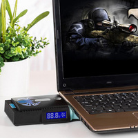Mini Portable Vacuum USB Laptop Cooler Air Extracting Exhaust LCD Temperature Display Cooling Fan CPU Cooler For Notebook Laptop