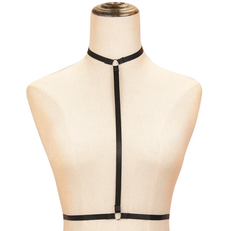 Sexy Women Lingerie Cage Top Bra Fetish Bondage Belt Erotic Fashion Strappy Harness Crop Top Elastic Body Strap Underwear Black
